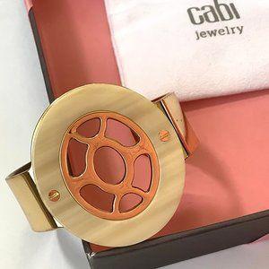 CAbi Polished Faux Gold Tone Cuff Bracelet